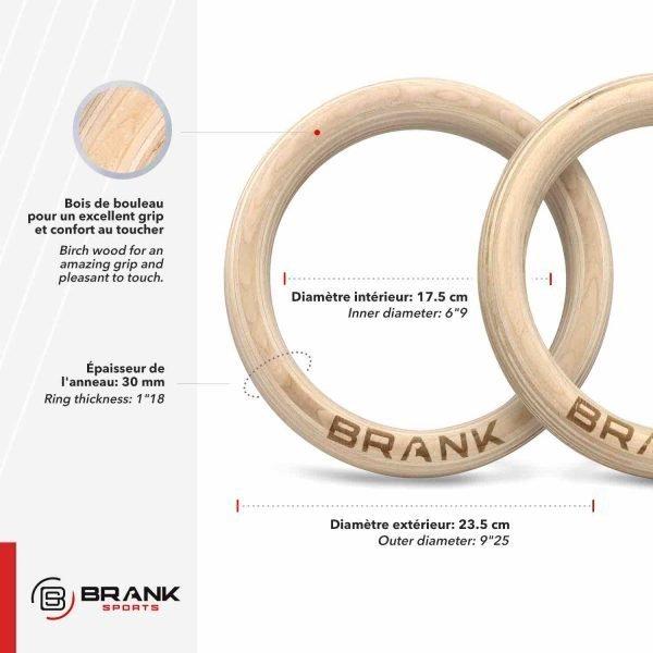 meilleurs anneaux de gym en bois pour workout