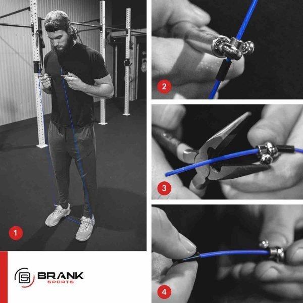 étapes pour ajuster une corde à sauter à sa taille