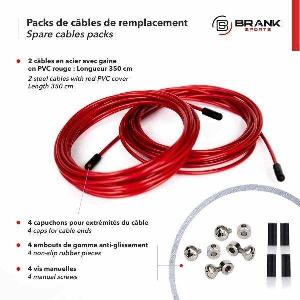 kit de corde de remplacement complet pour jump rope diamètre 2,5mm