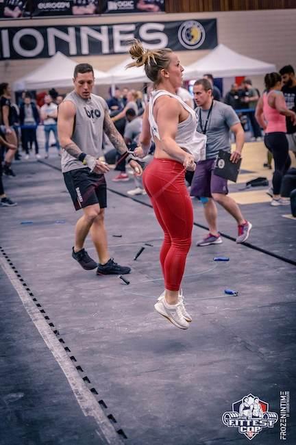 Sarah ambassadrice BRANK Sports jump rope crossfit