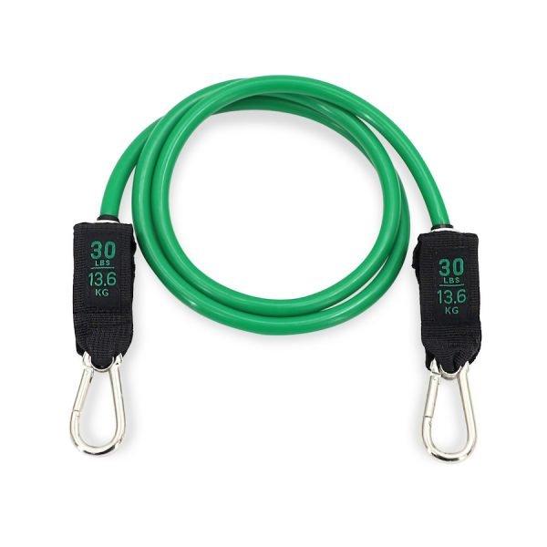 élastique de résistance avec mousqueton vert de 30lbs