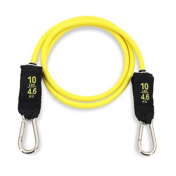 élastique de résistance avec mousqueton jaune de 10lbs