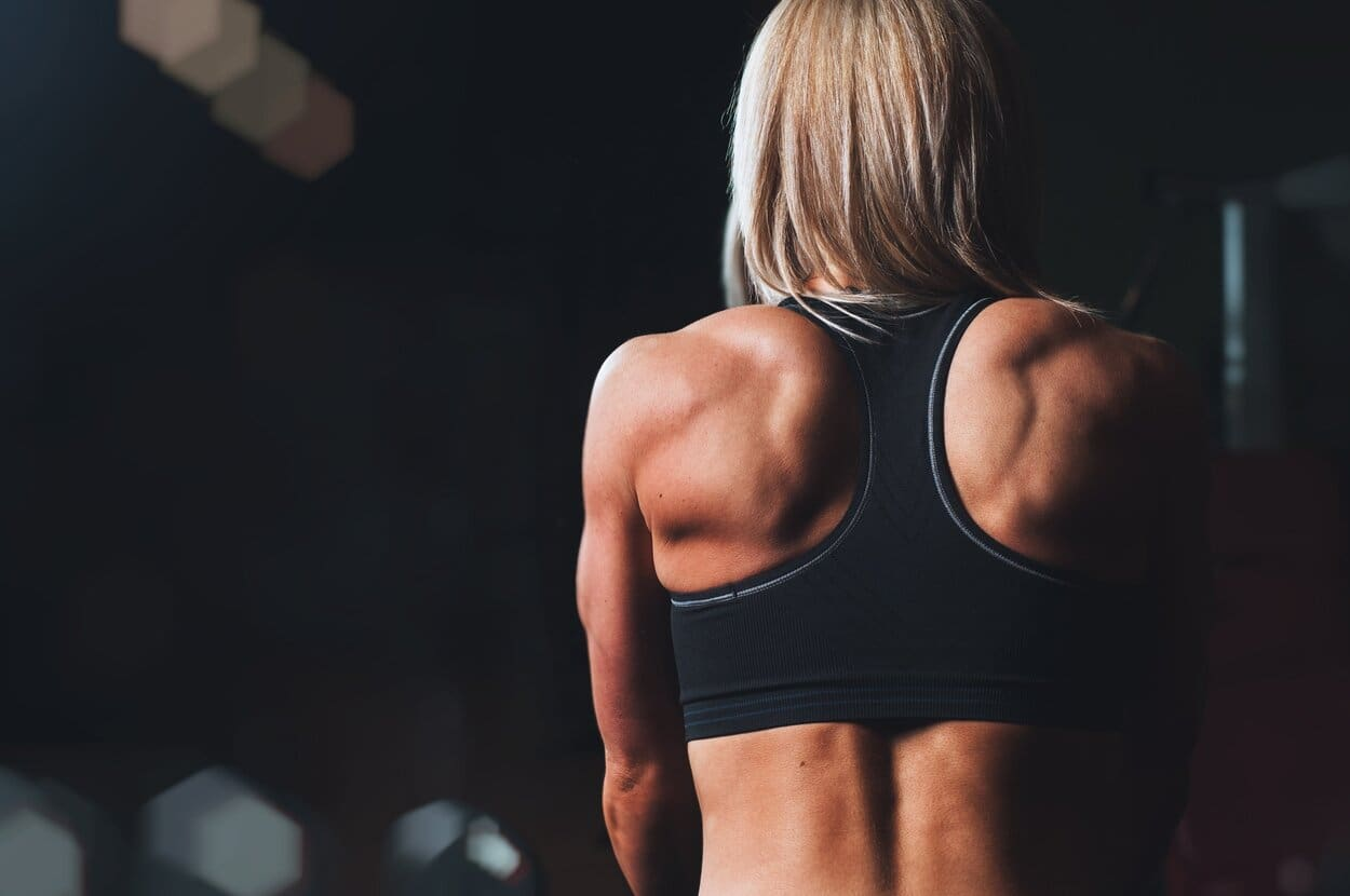 Back muscles woman