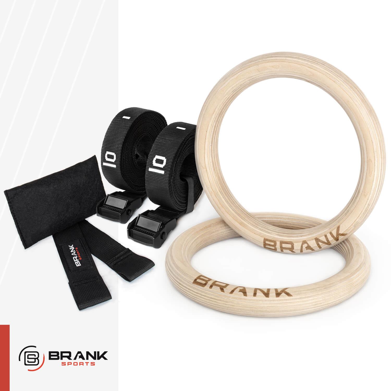 anneaux de gym en bois pour le travail en suspension