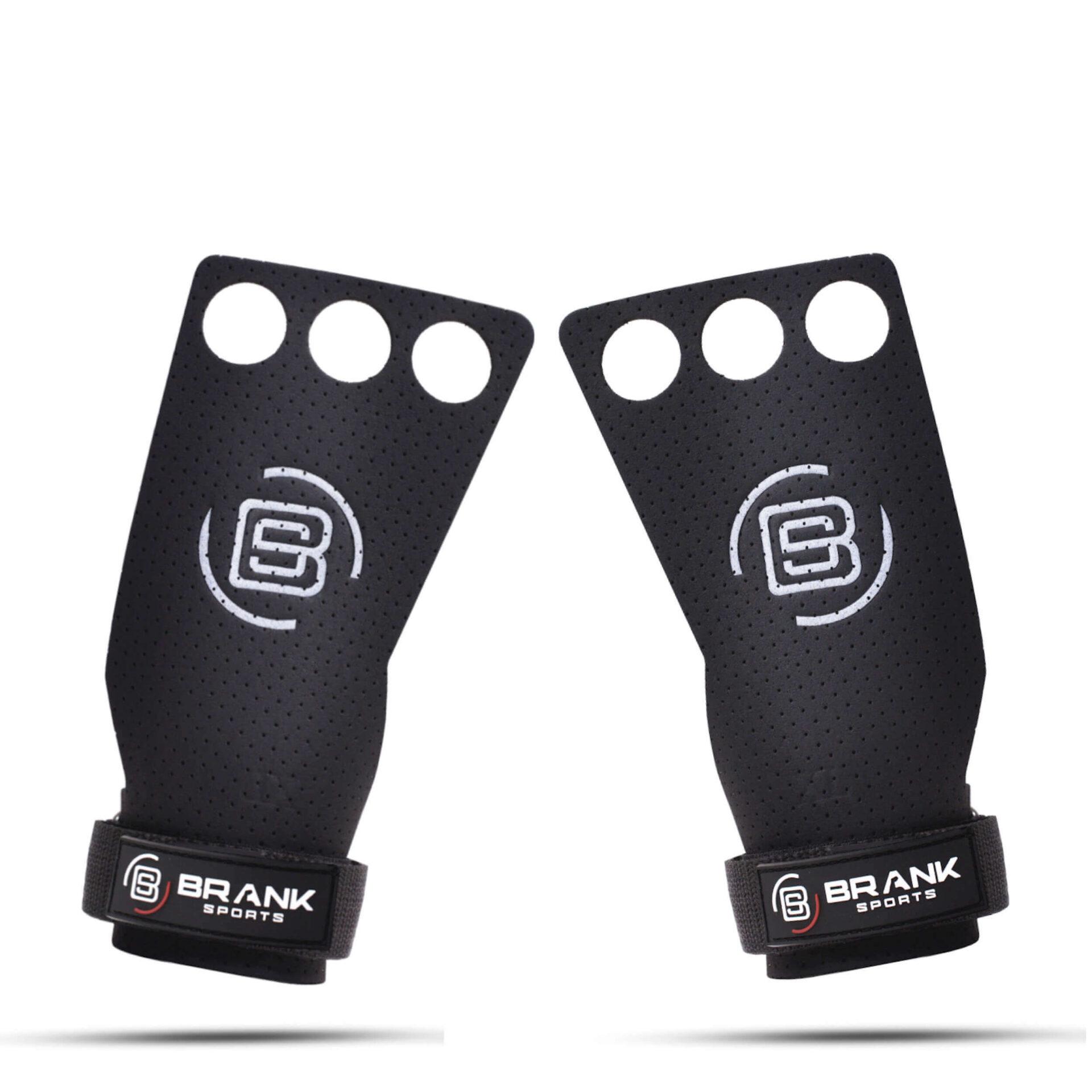 Maniques de gymnastique en cuir noires - 4 tailles disponibles